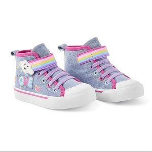George Toddler Girl Denim High Tops Size 6,7,8 NEW